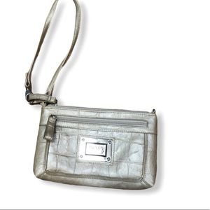 Nicole by Nicole Miller Faux Leather Wristlet